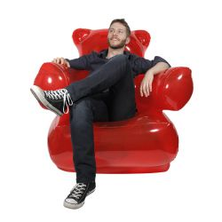 """Inflatable """"Gummy Chair"""" by Thumbsup"""