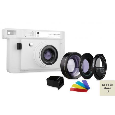 Lomo'Instant Wide Combo Lens & Splitzer White Edition by Lomography