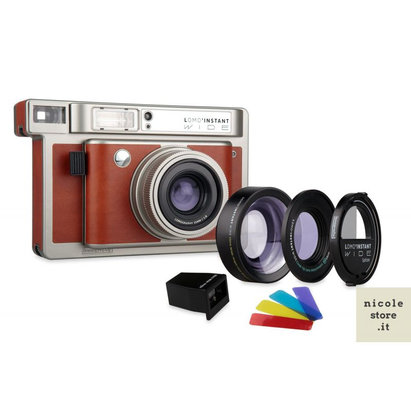 Lomo'Instant Wide + Lenti e Splitzer White Edition by Lomography