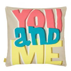"""""""You and Me"""" Cushion in pure cotton and filling"""