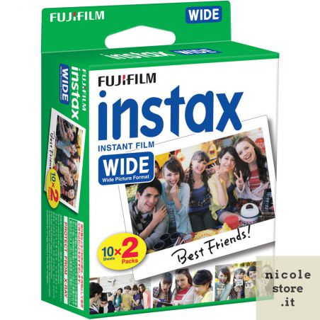 Fujifilm Instax Wide double pack - 20 exposures ISO 800 - by Fujifilm