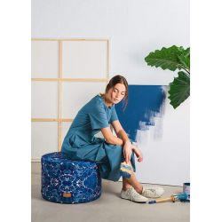 Blue Cell pouf by Woouf