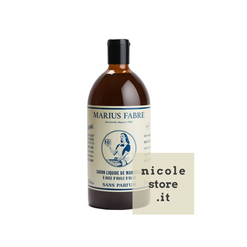 Liquid Marseille soap Sans Parfum (1L) by Marius Fabre
