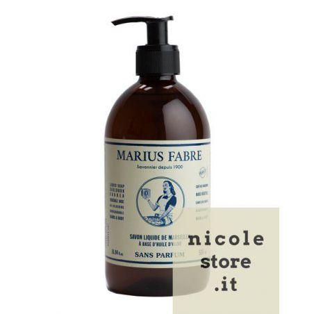 Sapone Liquido di Marsiglia per il Corpo Neutro (500mL con dispenser) NATURE by Marius Fabre