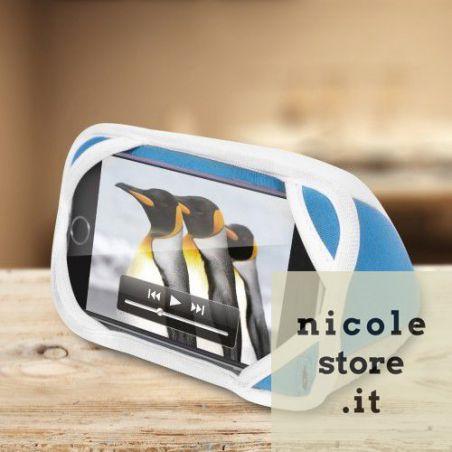 iLounge Mini - cuscino stand stile iMac BlueBerry per Smartphone - by Thumbsup