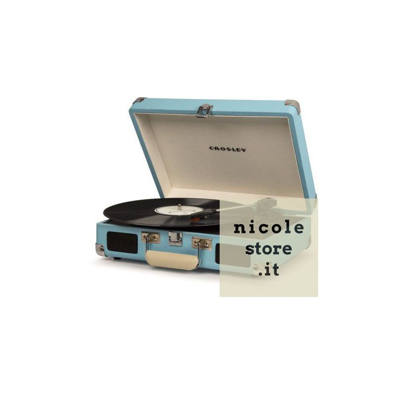 Elegant Crosley Cruiser Deluxe Turquoise Stereo Bluetooth Portable Turntable By  Crosley