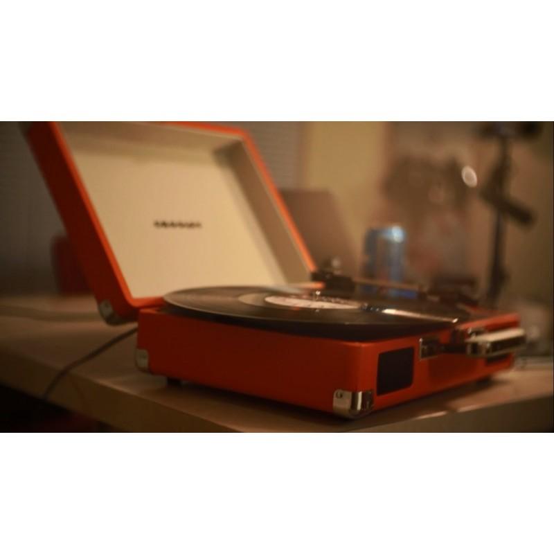 ... Crosley Cruiser Deluxe Orange Stereo Bluetooth Portable Turntable By  Crosley ...