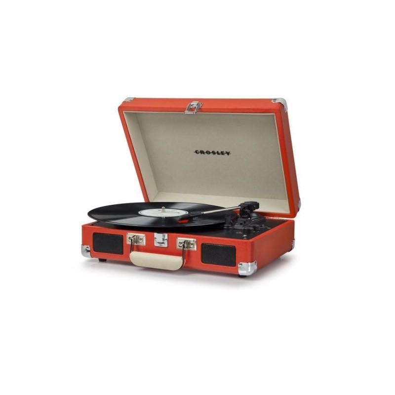 Crosley Cruiser Deluxe Orange Stereo Bluetooth Portable Turntable by Crosley