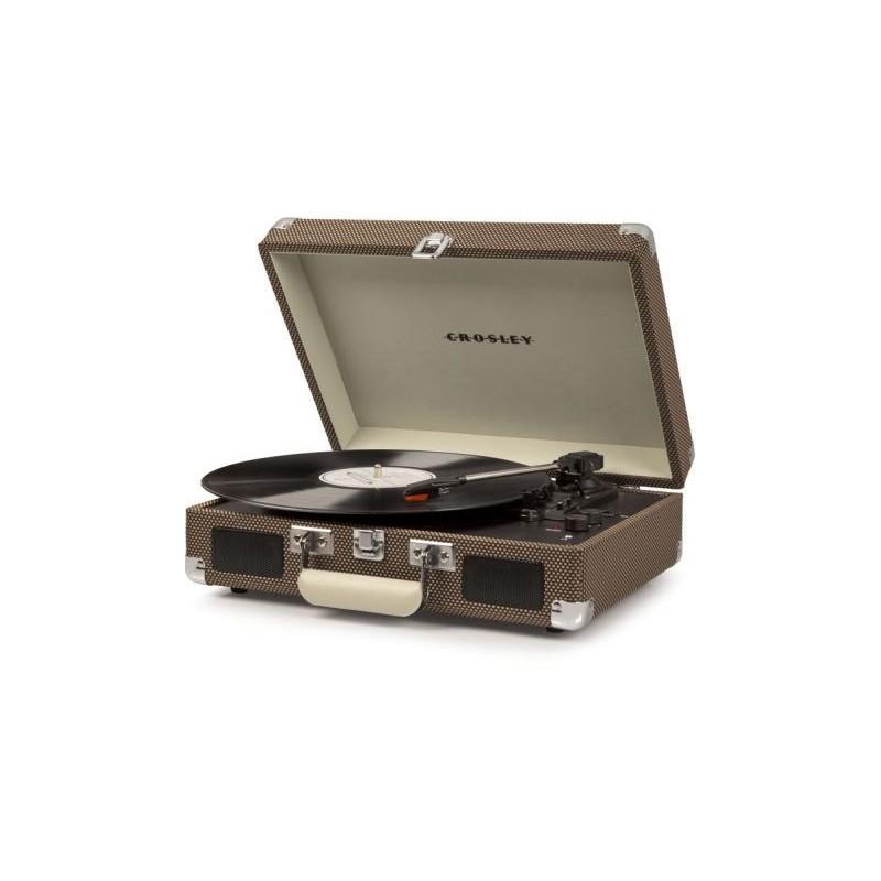 Crosley Cruiser Deluxe Tweed Giradischi Bluetooth Portatile Stereo by Crosley
