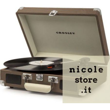 Crosley Cruiser Deluxe Tweed Stereo Bluetooth Portable Turntable by Crosley