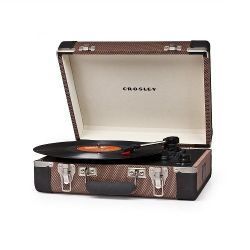 Crosley Executive Tweed & Black Giradischi USB Portatile Stereo by Crosley