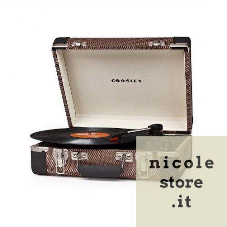Crosley Executive Tweed & Black Giradischi USB Portatile Stereo by Crosley
