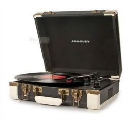 Crosley Executive Black & White USB Stereo Portable Turntable by Crosley