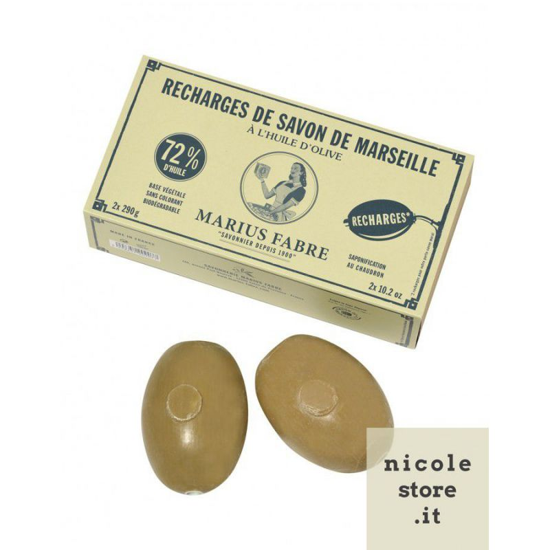Recharges (2 x 290gr) for wall hanging soap by Marius Fabre