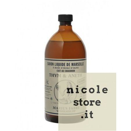 Liquid Marseille soap thyme and dill (1L) by Marius Fabre