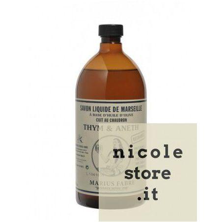 Sapone Liquido di Marsiglia al Timo e Aneto (1L) NATURE by Marius Fabre