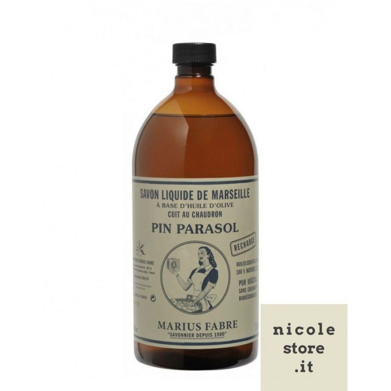 Liquid Marseille soap Umbrella Pine (1L) by Marius Fabre