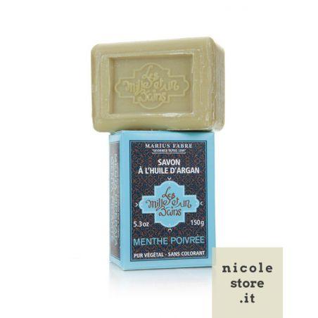 Peppermint flavored Argan Oil soap (150 gr) by Marius Fabre