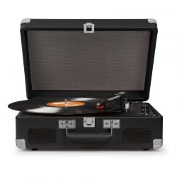 Crosley Cruiser II Black Battery Powered Portable Record Player by Crosley