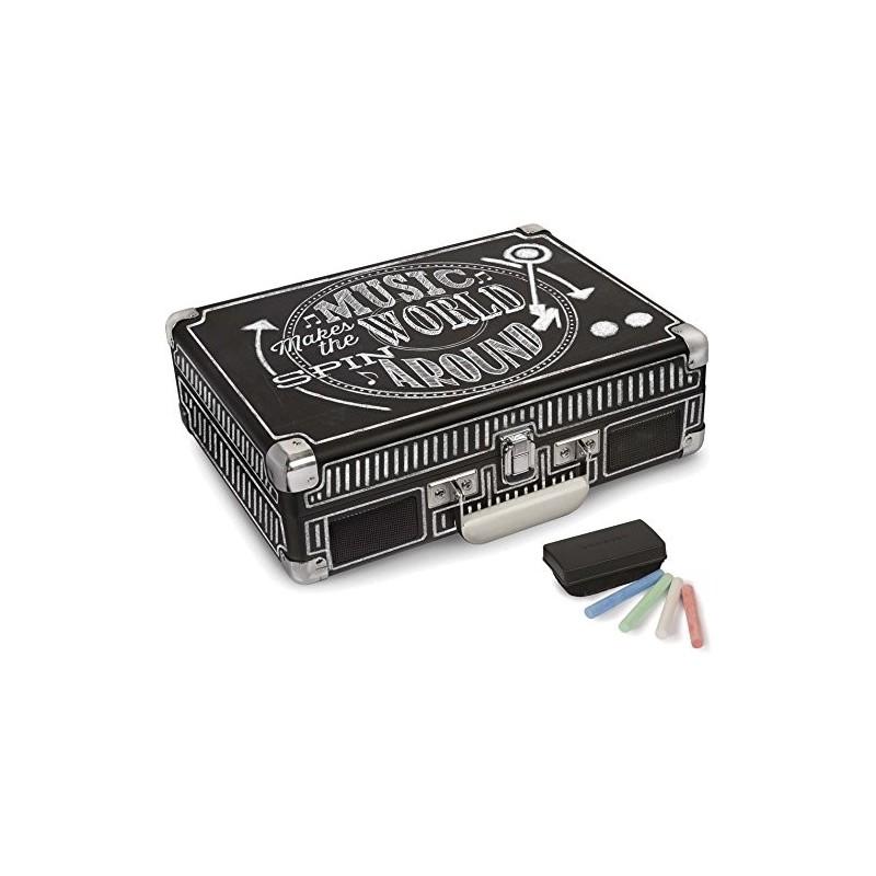Crosley Cruiser Deluxe Chalkboard Giradischi Bluetooth Portatile Stereo by Crosley