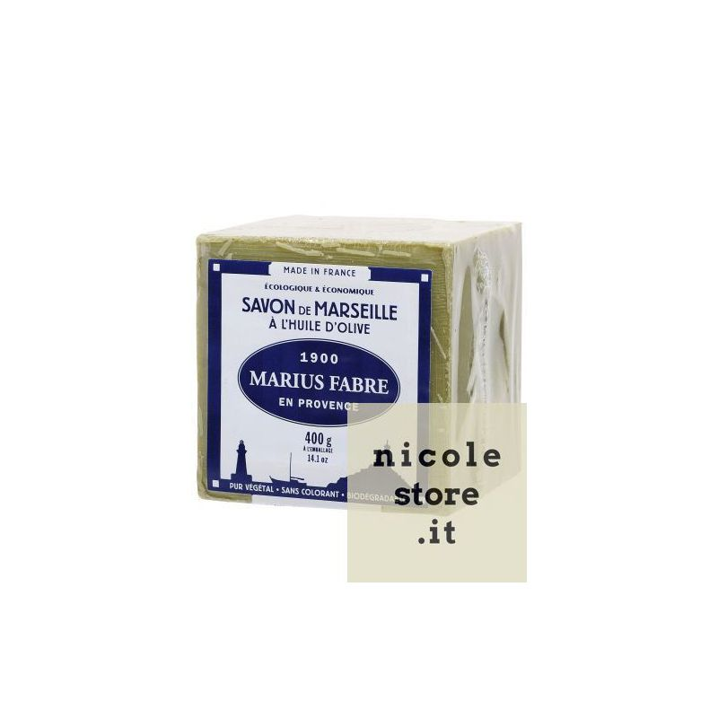 400gr Cube Extra Pure Marseille Vegetal Olive Oil Soap 72% By Marius Fabre