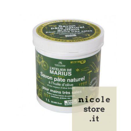 Marius Fabre Original Natural Hand Soap in Paste Atelier 1 Kg - Savon Noir based - Olive Oil - by Marius Fabre