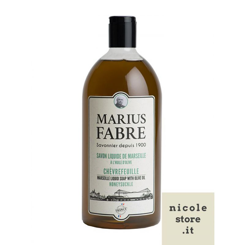 Marseille liquid soap honeysuckle flavoured (1L) 1900 by Marius Fabre