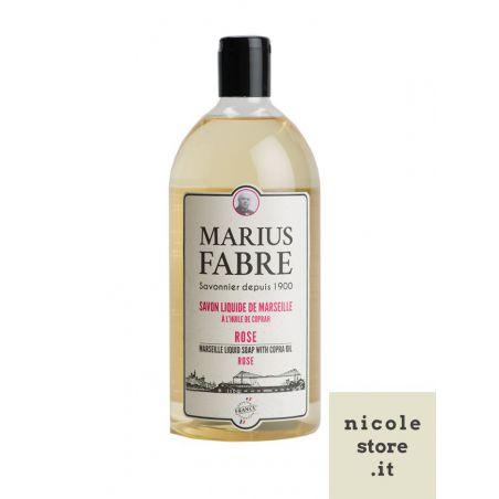Marseille liquid soap rose flavoured (1L) 1900 by Marius Fabre