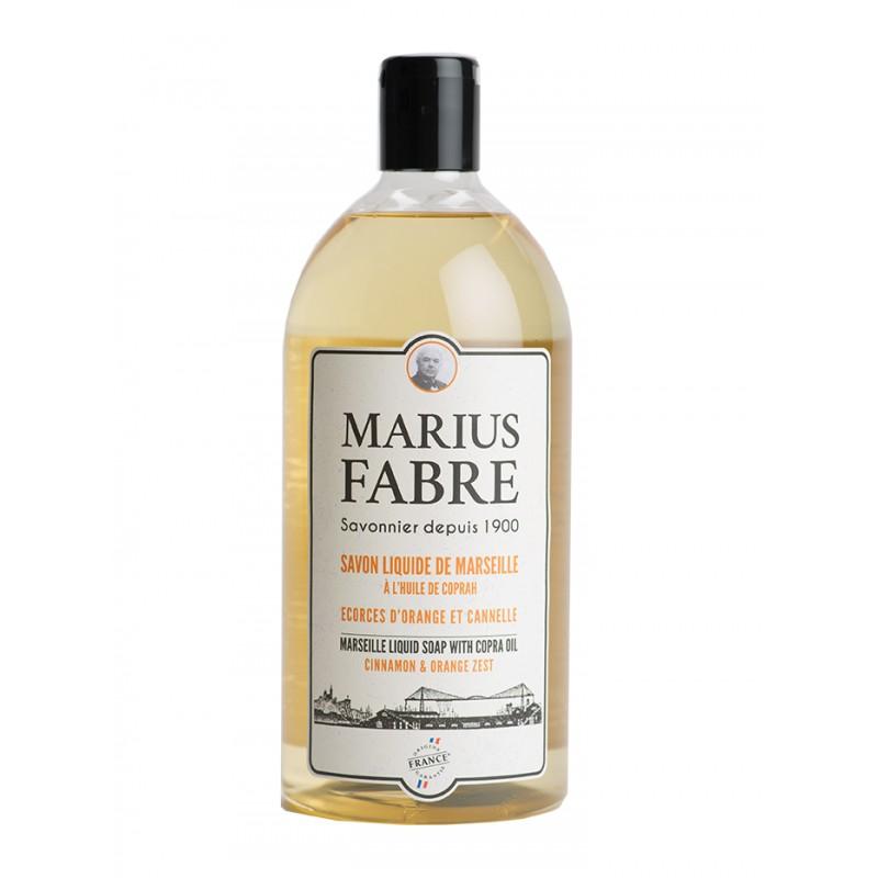 Sapone Liquido di Marsiglia alla Scorza d'arancio e Cannella (1L) 1900 by Marius Fabre