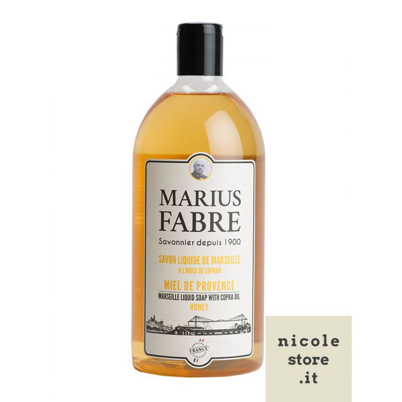 Marseille liquid soap Honey  flavoured (1L) 1900 by Marius Fabre