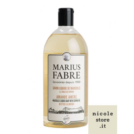 Marseille liquid soap Bitter Almond flavoured (1L) 1900 by Marius Fabre