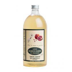 Marseille Liquid Soap Cherry Blossom & Pomegranate flavored (1L) Herbier by Marius Fabre