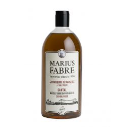 Marseille Liquid Soap Sandal Wood flavored (1L) Herbier by Marius Fabre