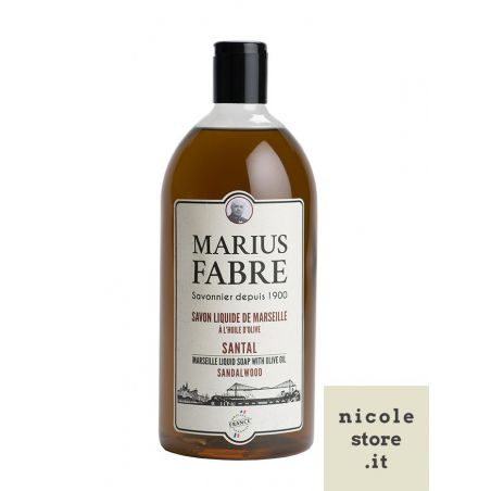 Sapone Liquido di Marsiglia aromatizzato al Sandalo (1L) 1900 by Marius Fabre