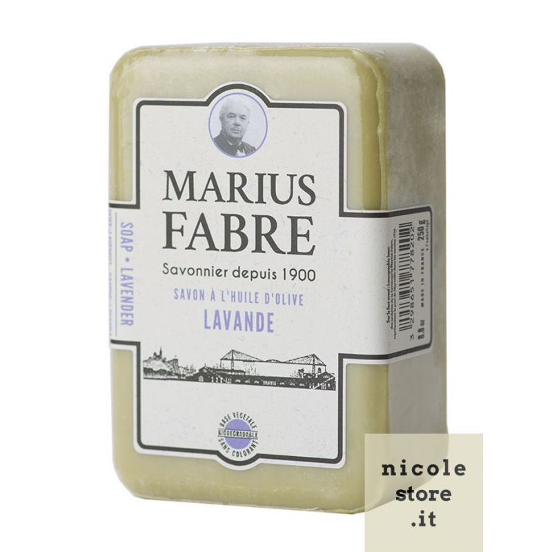 Sapone Puro di Marsiglia Aromatizzato alla Lavanda 250gr 1900 by Marius Fabre