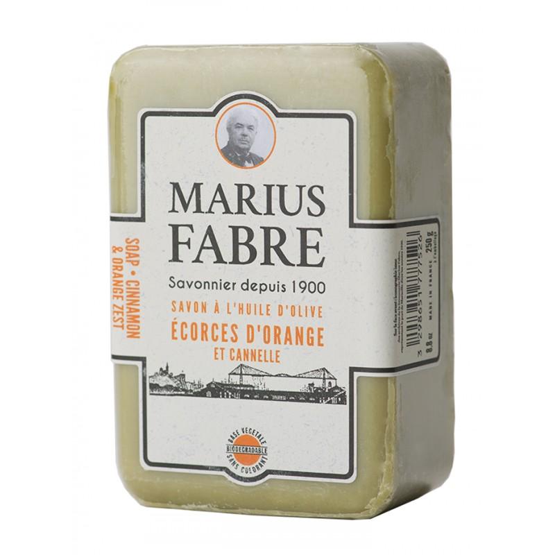 Sapone Puro di Marsiglia Aromatizzato alla  Scorza d'Arancio e Cannella 250gr 1900 by Marius Fabre