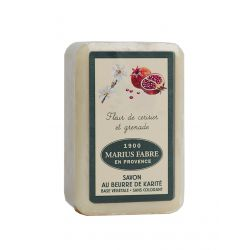Marseille Cherry Blossom & Pomegranate perfumed pure olive oil soap (250gr) 1900 by Marius Fabre