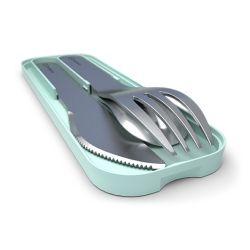 MB Pocket verde Matcha posate portatili in acciaio di Monbento