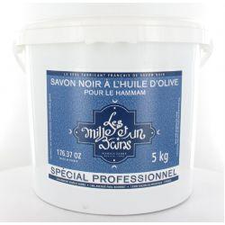 Hammam Olive Oil Black Soap (Savon Noir Marocain) for body 5KG - Les Milles et un Bains by Marius Fabre