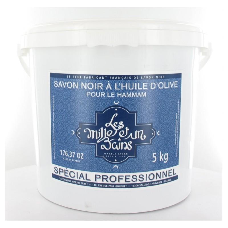 Sapone Nero Hammam (Savon Noir Marocain) per il corpo a base d'Olio d'Oliva 5KG -  Les Mille et un Bains by Marius Fabre