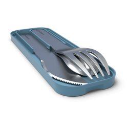 MB Pocket blue Denim stainless steel portable cutlery in Monbento
