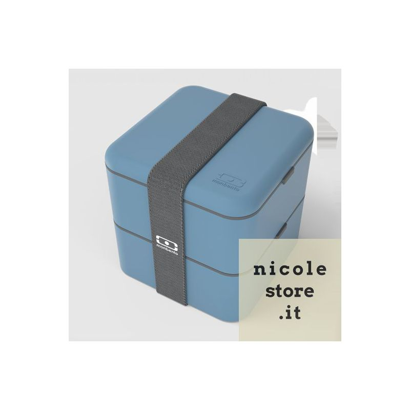 Monbento MB Square blu Denim Lunch Box by Monbento