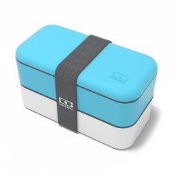 Monbento MB Original Light Blue e White lunch box by Monbento