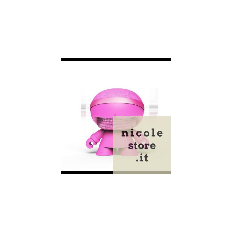 Xoopar Boy Xboy Glow Stereo Pink bluetooth wireless stereo speaker by Xoopar
