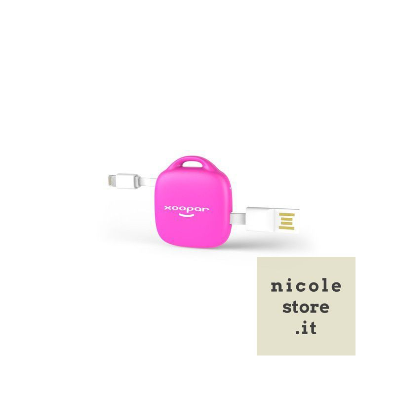 Hug Booster Power Bank Porta-Chiavi Rosa (Pink) by Xoopar