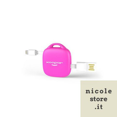 Hug Booster 500mAh Power Back Pink with Cable by Xoopar