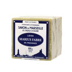 Sapone di Marsiglia extra puro 72%  all'Olio d'Oliva in Cubo da 600gr  NATURE by  Marius Fabre