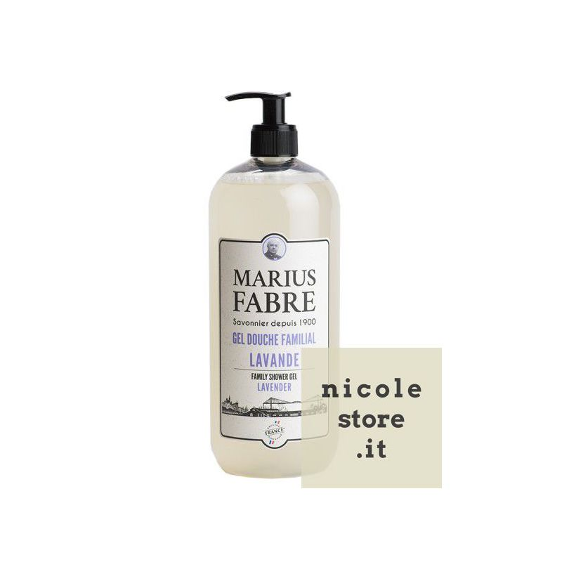 Family Shower Gel Lavender parfumed (1L) 1900 by Marius Fabre