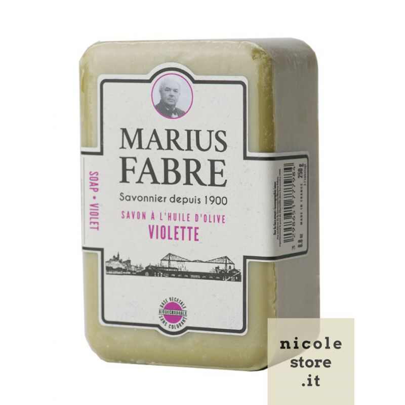 Marseille Violet perfumed pure olive oil soap (250gr) 1900 by Marius Fabre