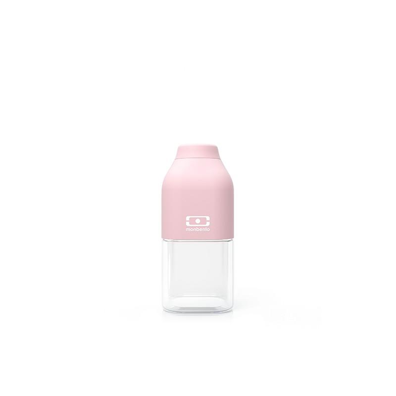 MB Positive S pink Litchi reusable Tritan bottle by Monbento